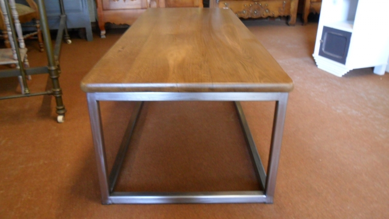 Table basse pi tement m tallique table basse pi tement for Pietement table metal